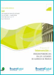 Publicación sobre intervención en drogodependencias en los juzgados de guardia de Madrid