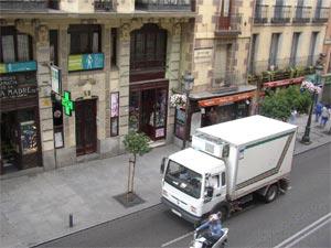 Camión de transporte de alimentos